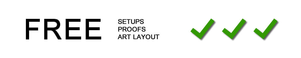 Free setups, proofs, art layout